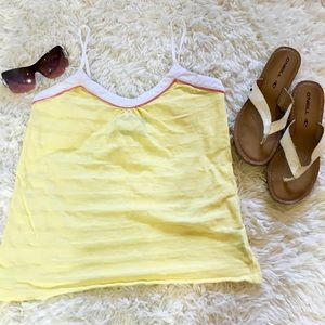 ☀️ Volcom yellow adjustable spaghetti strap tank S